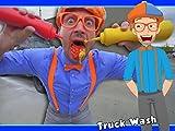 Blippi Car Wash - Truck Videos for Children