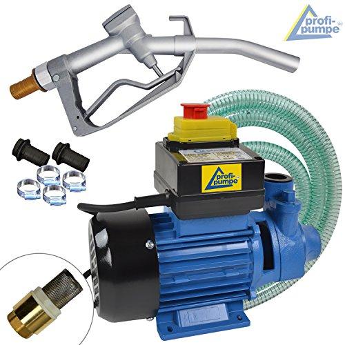 AMUR Dieselpumpe Heizölpumpe Biodiesel Profi-230V, JETZT MIT EXTRA-Ersparnis! 230V SELBSTSAUGENDE DIESELPUMPE - KRAFTSTOFFPUMPE Set mit Schlauch, Zapfpistole und QUALITATIV-HOCHWERTIGEM Zubehör
