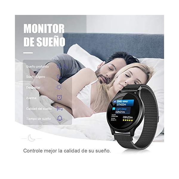 BANLVS Reloj Inteligente, Smartwatch IP67 1.22 Pulgadas Pulsómetro, Monitor de Sueño, Presión Arterial,Pulsera Actividad… 4