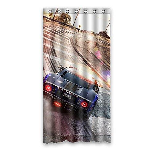 Fashion Thema Cool Sport Auto Muster Wasserdicht Polyester-Badezimmer-Dusche Vorhang 91,4x 182,9cm (90x 183cm), Polyester, H, 36