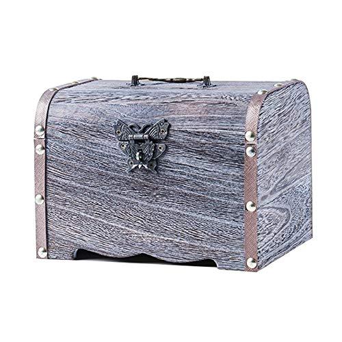 Contador Digital de Hucha Retro caja de madera Alcancía Caja de seguridad Caja de Ahorros hecho a mano caja de dinero de la caja de almacenaje de la joyería for las muchachas niños y adultos regalo Ba
