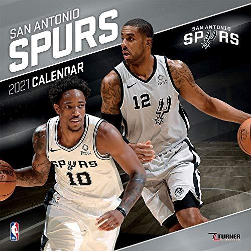 San Antonio Spurs 2021 12x12 Team Wall Calendar
