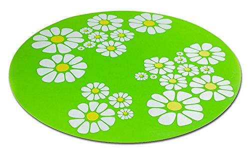 PETGARD Unterlegmatte für Trinkbrunnen Little Flower grün 35,5 cm