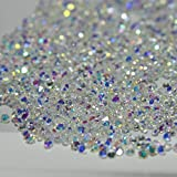 Micro Diamond - Meicailin 1440Pcs Micro Diamond DIY Nails Rhinestones Crystal Non Hotfix Rhinestones Need Glue Nail Art Decoration Cosmetics (AB Clear)