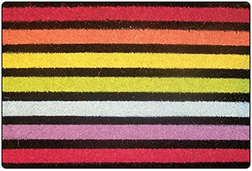 tapis déco paillasson 40x60 cm coco fond couleur baya