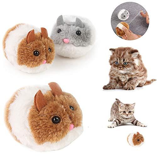 TEQIN Mode Kätzchen Spielzeug Niedlich Plüsch Ratte Maus Form Interaktives Spielzeug Zufällige Farbe Zufällige Farben