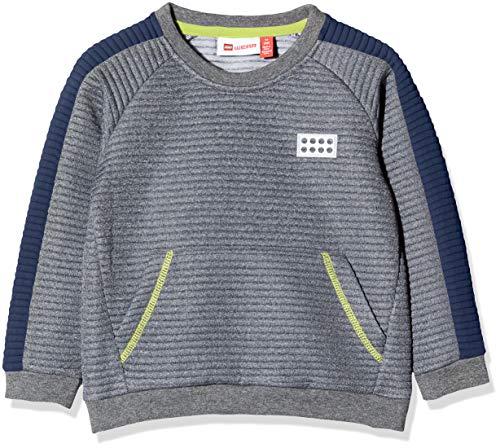 Lego Wear Lwsolar Sweat-Shirt, Gris (Dark Navy 590), 104 Bébé garçon