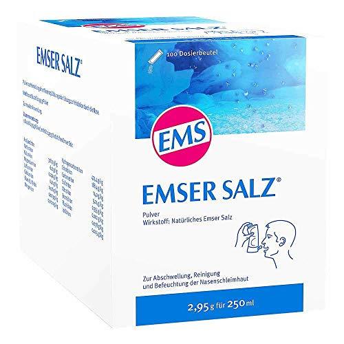 Emser Salz zur Verwendung mit der Emser Nasendusche – Bei Erkältung als Alternative zu Nasenspray – 100 x 2,95 g Beutel