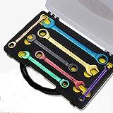 XINGYA 7pcs Couleur clé à cliquet à Double Usage Multifonction clé Plate Mobile Outils à Main Set 8-19mm (Size : 13mm)