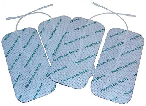 Grandes électrodes autocollantes x 4 Pour Appareil d'électrothérapie TENS EMS par Healthcare World