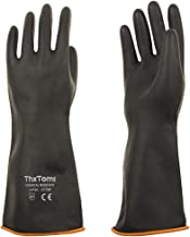 ThxToms Heavy Duty Latex Gloves, Resist Strong Acid, Alkali and Oil, 14