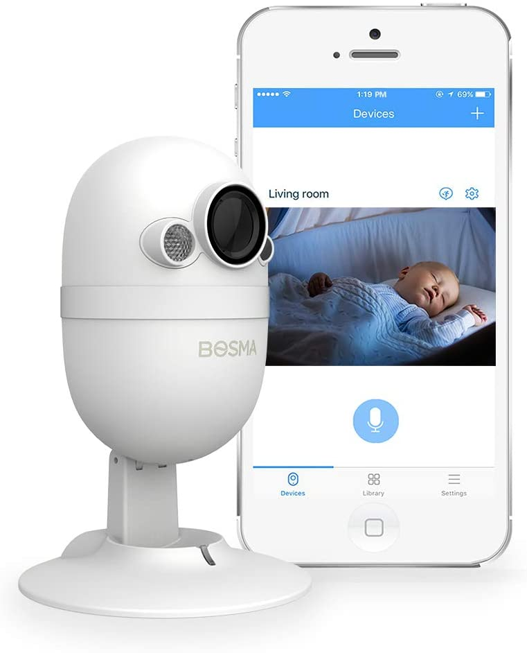 Bosma CapsuleCam-S Baby Monitor Max 72% OFF HD P Camera with Max 43% OFF Indoor Security