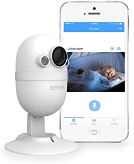 Bosma Video Baby Monitor with Phone app, 1080p HD WiFi Camera with 2 Way Audio, Night Vision, Sound and Motion Detection, ...