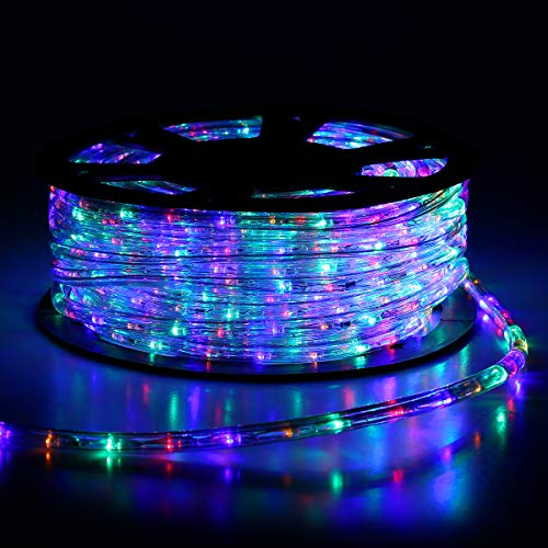Buyagn 150Ft LED Rope Lights,Cuttable & Connectable LED Rope Lights Outdoor Waterproof Decorative Lighting for Indoor/Outdoor,Eaves,Backyards Garden,Party and Bedroom Decorations(Multicolor)