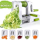 Spiralizer 5-Blade Vegetable Spiralizer,Sedhoom Foldable Spiral Slicer,Zucchini Noodle & Veggie Pasta & Spaghetti