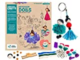 Chalk And Chuckles Art and Craft Keychain Dolls - Make Yourself Activity Kit for Ages 8+ Unique DIY Set, Gifts for Girls 9, 10, 11, 12 Years Old