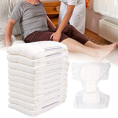 Weikeya Pañales Adultos 3D, Fugas Laterales de Cintura Lateral 10pcs posparto Ropa Interior de algodón