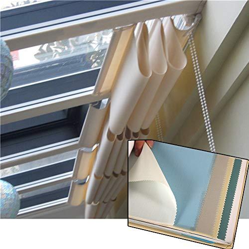 MAHFEI Cubierta Retráctil De Dosel Ondulado Cubierta De Cortina De Dosel De Pérgola Malla Sombra De Red Techo De Cristal Techo Corredizo Semi-sombreado Plegable (Color : Blue, Size : 3X3M)