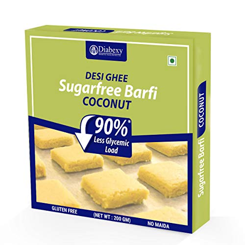 diabexy Desi Ghee Sugar Free Coconut Barfi for Diabetics- 200g