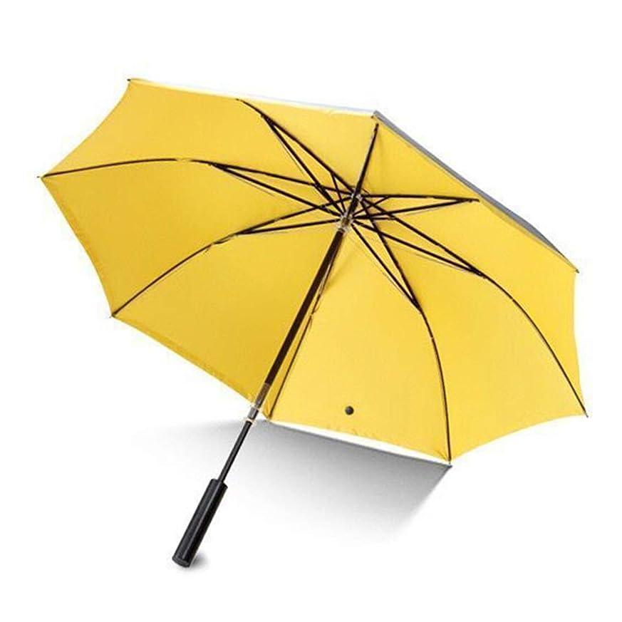 スラムプログレッシブ害CAFUTY ミックスカラー屋外折り畳み太陽の傘女性のポータブル日焼け止め傘耐風 (色 : イエロー)