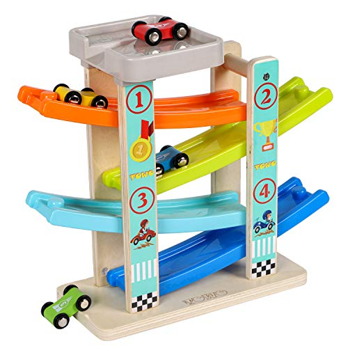 TOWO Wooden Car Ramp Toy