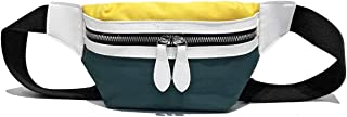 Canvas Fanny Pack Small Waist Pouch Crossbody Chest Bag for Women, Water Resistant, Lightweight, Fit All Phones