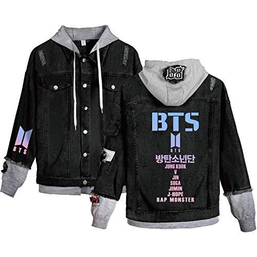 Dolpind Kpop BTS Hoodie Love Yourself Denim Jacket Jimin SUGA Jungkook V Jkope Rap Jin Hoodie Coat Merchandise