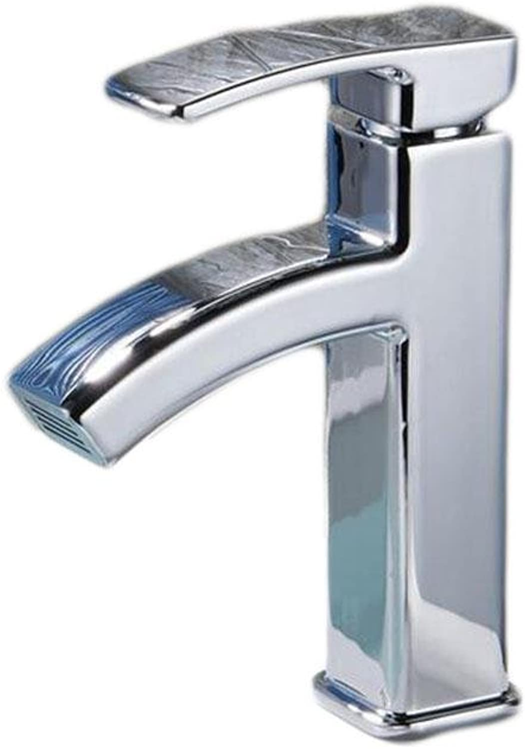 SHIQUNC Bathroom kitchen faucet cold hot mix single hole