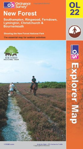 OS Explorer map OL22 : New Forest