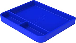 S&B Non-Slip Flexible Silicone Tool Tray | Tool Mat | Tool Organizer | Tool Holder (Medium, Blue, 80-1002M)