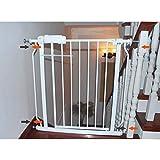 J+N Sicherheitstür Sicherheits-Tür-Leitschiene Hund Zaun Isolation Baby Kind Baby-Treppe Zaun Indoor Balkon Baby-Sicherheitstür (Color : White, Size : 170~181.9cm)