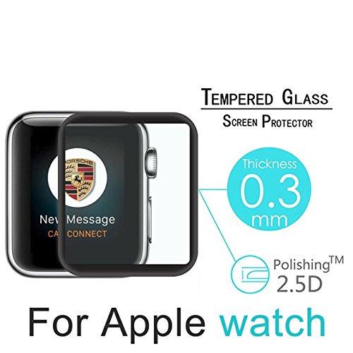 Pellicola Proteggi Schermo Premium per Apple Watch da 42mm in vetro temprato ultra resistente a urti e graffi 9H 2,5D di 0.33mm