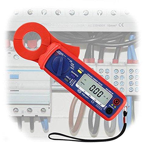 Pinza de corriente para medir corriente de fuga / RMS Medición de corriente / Prueba de continuidad y resistencia / Medición de voltaje hasta 400 V PCE Instruments PCE-LCT 1