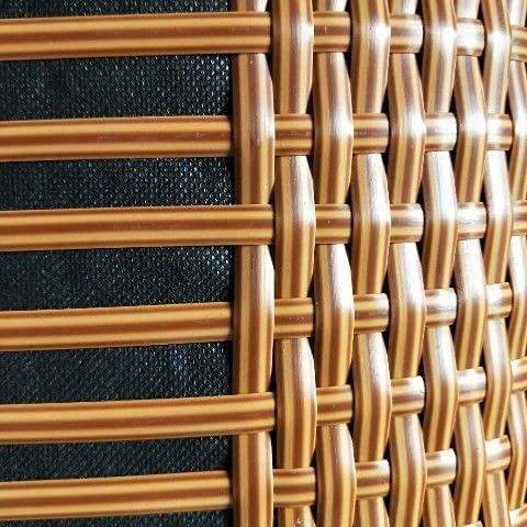 WWQQ 8 mm * 65m Gradiente Tejido Plano de ratán, reparación de ratán sintético Material de Punto Plástico de ratán para Muebles para el hogar de Bricolaje, Mesa de Silla, Cesta de Almacenamiento