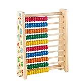 Juguetes de Madera Montessori Abacus Ayuda de Aprendizaje de matemáticas con...