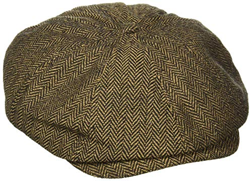 BRIXTON, Cappello Brood, Marrone (Brown/Khaki Herringbone), XL