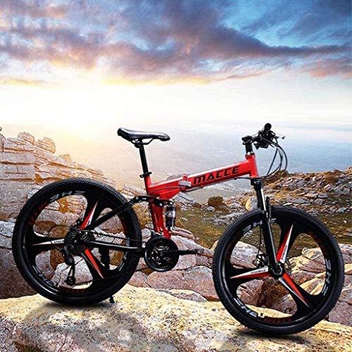 JYD Bike, Mountain Bike, Soft Tail Bike, Folding Bike, 24 inch 21/24/27 Speed  Bike, Adult Student  Variable Speed Bike Speed 6-11.21
