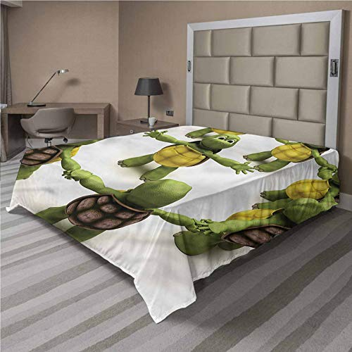 LCGGDB Reptile Flat Sheet Only,Ninja Turtles Dancing Kids Brushed Microfiber Bedding Top Sheet, Ultra Soft Bed Flat Sheets,1 Piece,Full Size,Fit for Oversize and Extra Height Full Bed