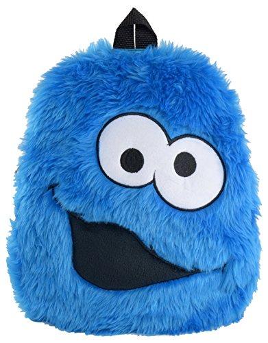 Sesamstraße Krümelmonster Plüsch Rucksack, 33 cm x 28 cm, Cookie Monster