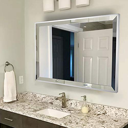 Chende Rectangle Wall Bathroom Mirror with 2' Big Beveled...