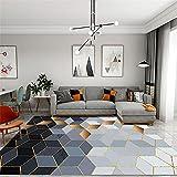 pie de cama cuadros cabecero cama matrimonio El rectángulo moderno geométrico de la alfombra de la sala de estar se puede lavar a máquina sin deformación cuadros juveniles dormitorio 80X160CM 2ft 7.5'