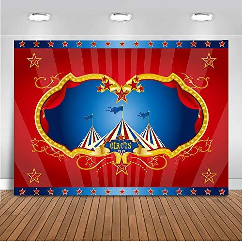 Mehofoto Circus Carpa Fotografía Fondo 7x5ft Vinilo Circo Carnaval Niños Fiesta de cumpleaños Banner Feria Feria Recién nacido Bebé Fotografía Fondo