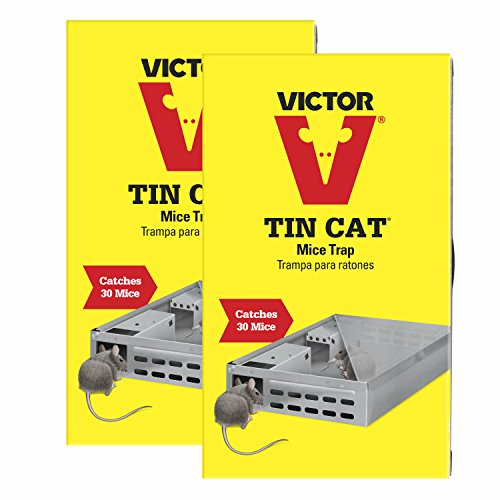 Victor Tin Cat Mouse Trap For Catch and Release - 2 Pack