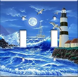 Art Plates - Lighthouse at Night Switch Plate - Single Toggle
