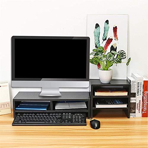 Soporte para monitor de ordenador, color negro, monitor de ordenador, portátil, mesa de escritorio, monitor de sobremesa, monitor de sobremesa, elevador de pantalla