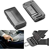 Car Seat Belt Adjuster Seatbelt Clips - Smart Adjust Seat Belt Clamp to Relax & Provide Shoulder & Neck Comfort While Driving - Set of 2 Easy to use Color Black By Neust