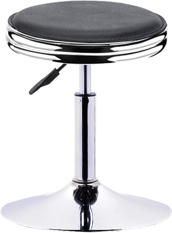 WEIYV Bar Stool redating Lift Fashion Stool Beauty Chair Back Stool Office Work Stool Beauty Salon Salon Stool Height Adjustable Furniture Accessories (color   Black, Size   38.5  37cm)