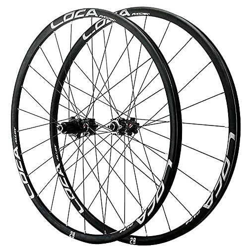 ZFF 26 27.5 29 Pollici MTB Set di Ruote Ultraleggero Mountain Bike Ruote Lega di Alluminio Rim 24 Buche Freno A Disco Rilascio Rapido Micro Spline 12 velocità (Color : Black Hub, Size : 26in)