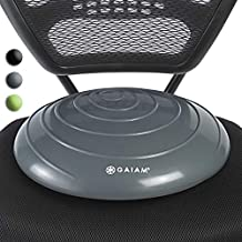 Gaiam Balance Disc Wobble Cushion Stability Core Trainer For Home Or Office Desk Chair & Kids Alternative Classroom Sensory Wiggle Seat - Grey , 16 Inch