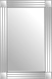 Silver Triple Bevelled Venetian Wall Mirror 3Ft X 2Ft (91cm X 61cm)